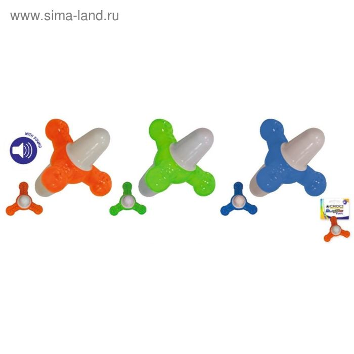 "Игрушка для собак ""Blasting Пропеллер"", со звук., плав., 12x12x12 см, термопласт.резина, оранж.   24"