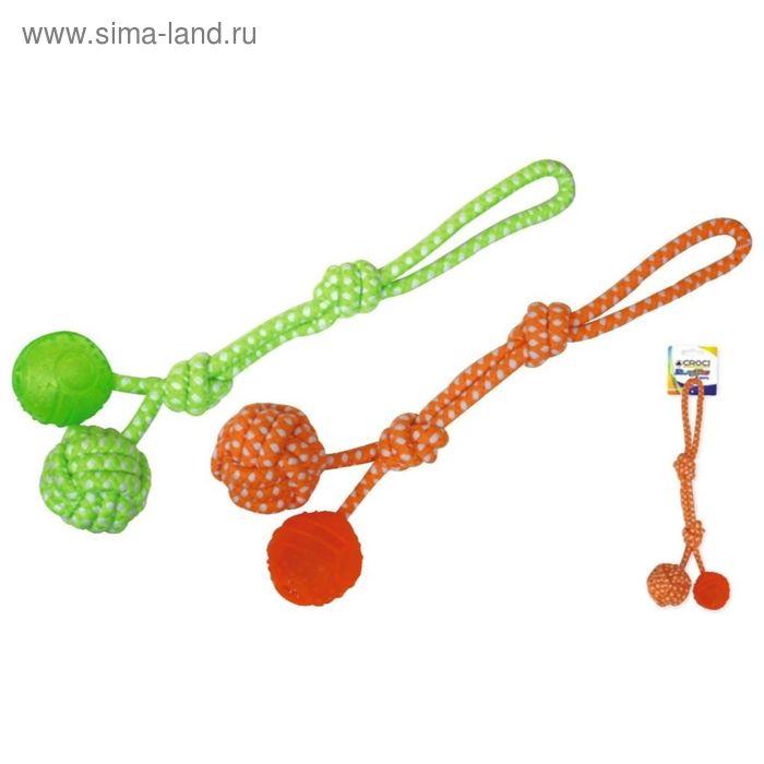 """Игрушка для собак """"Blasting Веревка с шариком из термопласт.резины и вер.шариком"""", 41 см, хлопок/тер"""
