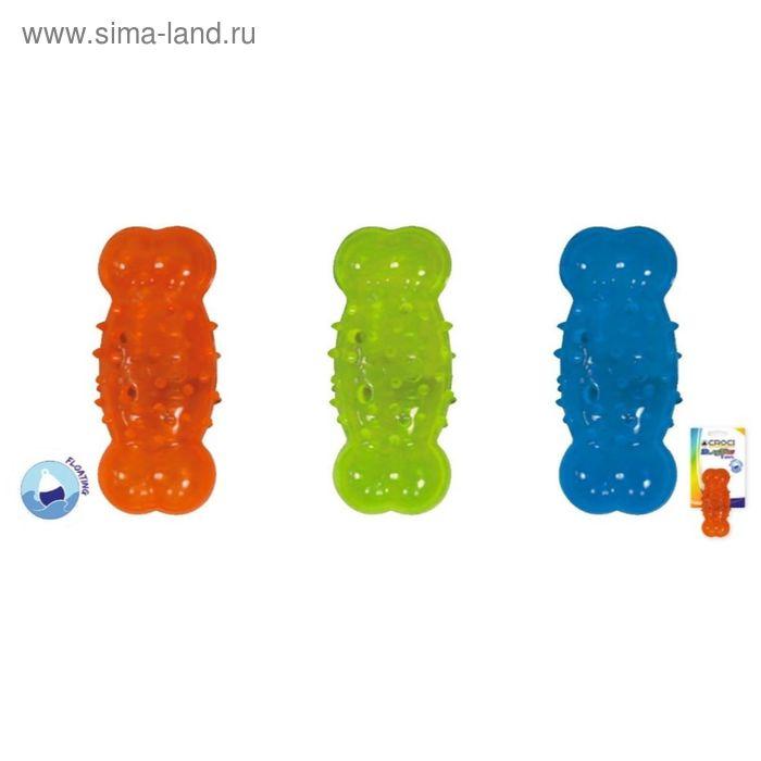 "Игрушка для собак ""Blasting Кость"", плав., 13,5x5,6 см, термопласт.резина, зелен."