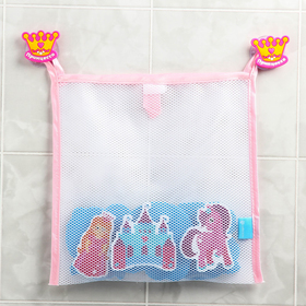Наклейки в ванную из EVA «Принцесса» + сетка для хранения игрушек на присосках