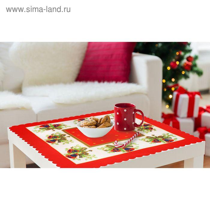 """Скатерть """"Collorista"""" Праздничный стол (вид2) 80*80 см, 100% п/э"""