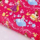 """Бумага упаковочная глянцевая """"С Днем Рождения, Принцесса"""", 50х70 см, Принцессы"""