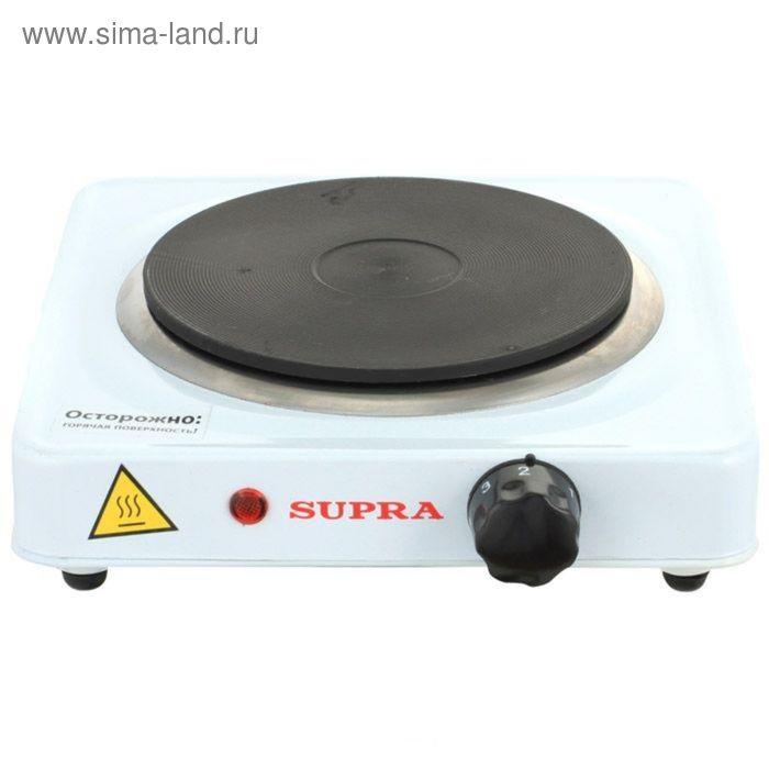 Плитка электрическая  Supra HS-101, настольная, 1 конфорка, белая