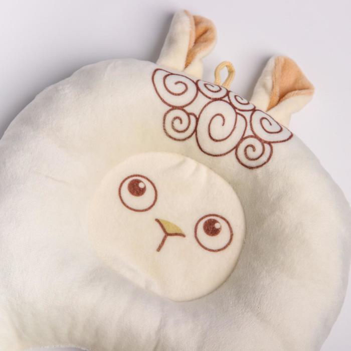 Подушка дорожная детская «Овечка» ортопедическая, цвет белый