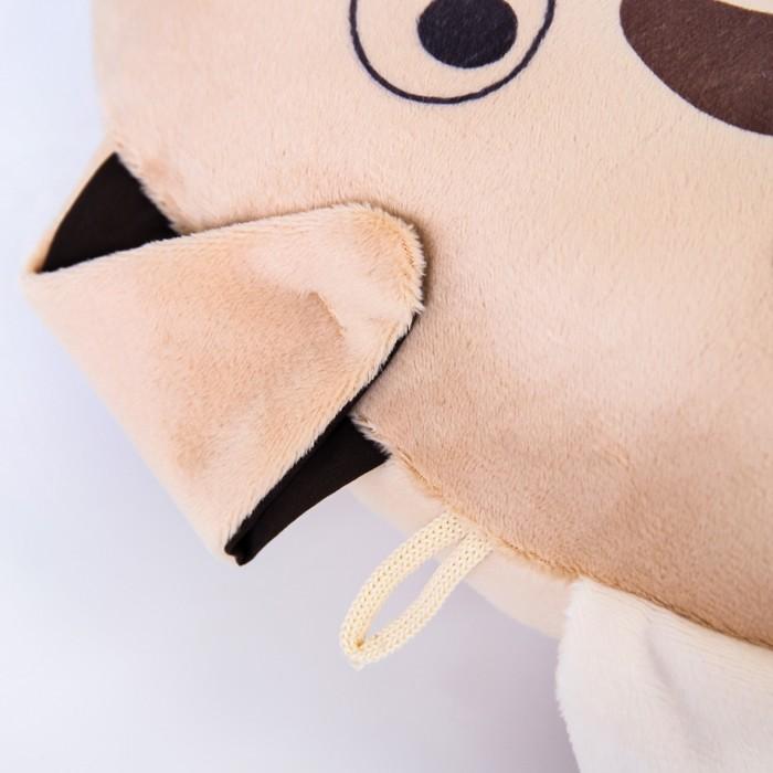 Подушка дорожная детская «Щенок» для шеи, цвет бежевый