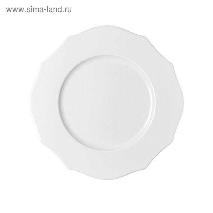 Тарелка обеденная Belle Epoque белая