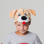 """Шапка """"Собака бежевая с мохнатой мордочкои"""" размер 52-57см"""