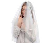 Фата свадебная 150х170 см, белая
