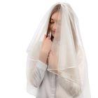 Фата свадебная 150х150 см, айвори