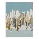 """Колледж-тетрадь А5, 64 листа клетка """"Графика. Стильный город"""", блок 60г/м2, интегральная обложка, матовая ламинация"""