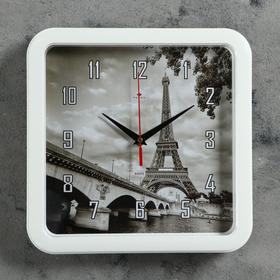 "Часы настенные квадратные ""Эйфелева башня"", 30х30 см  Рубин"