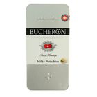 "Шоколад ""Bucheron"" молочный с фисташками в жести 100 гр"