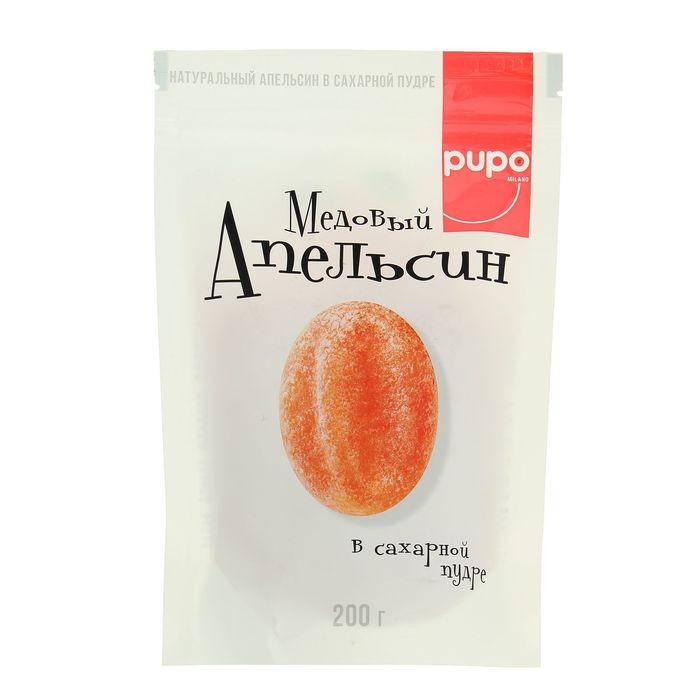 """Конфеты """"Pupo""""Апельсин медовый, фортунелла в сахарной пудре 200 гр"""