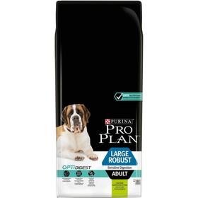 Сухой корм PRO PLAN для собак крупных пород/мощное тело, ягненок/рис, 14 кг
