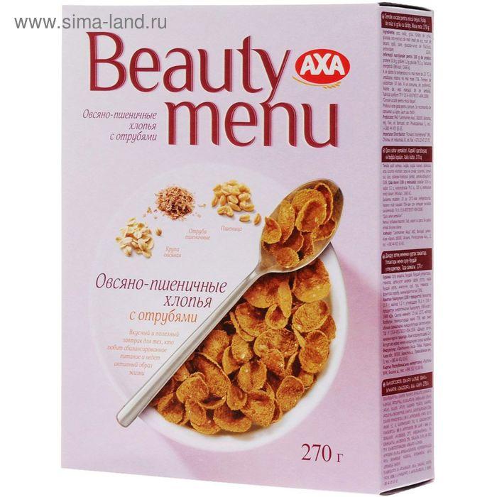 Хлопья AXA Beauty menu овсяно-пшеничные с отрубями 270 г