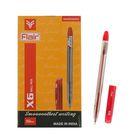 Ручка шариковая Flair X-6 узел-игла 0.6мм, масляная основа, стержень красный F-741