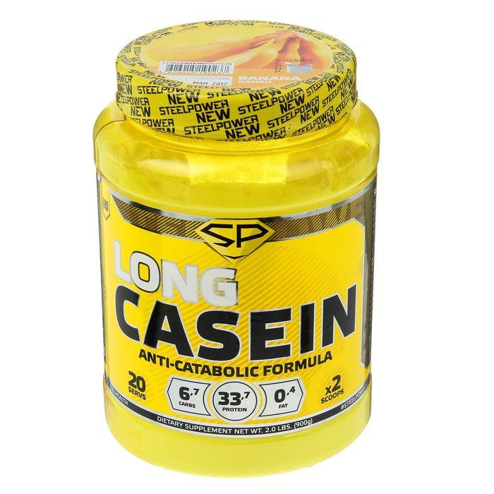 Казеин Long Casein Protein, банан, 900 г