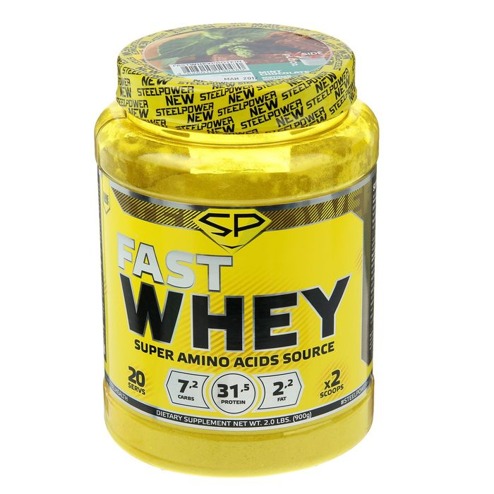Протеин Steel Power Nutrition Fast Whey Protein, мятный шоколад, 900 г