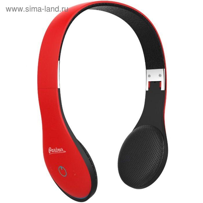 Гарнитура Partner 033687 Soul, Bluetooth, v4.1, стерео, красная