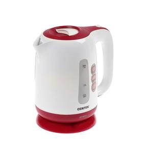 Чайник электрический Centek CT-0044, 2200 Вт, 1.8 л, пластик, красный