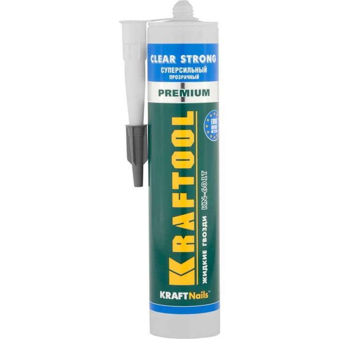 Клей KRAFTOOL KraftNails Premium KN-601T, монтажный, прозрачный, 310 мл
