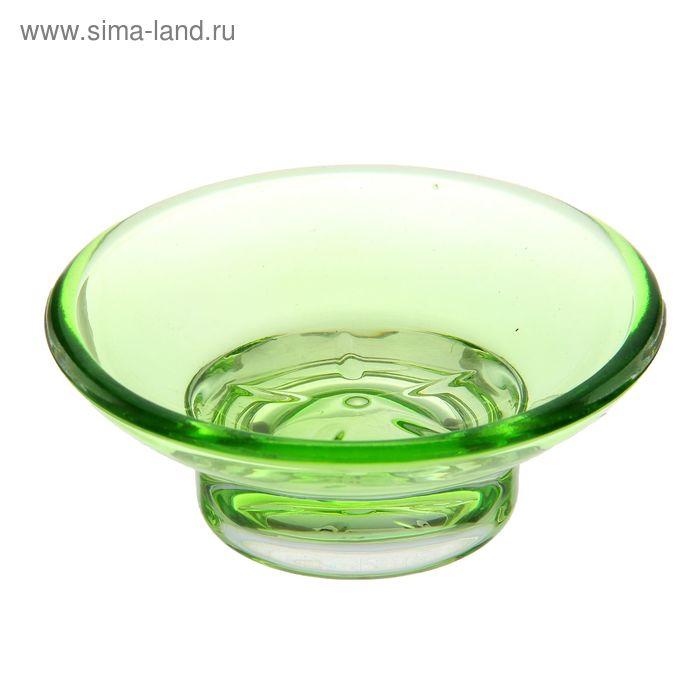 """Подсвечник стекло """"Оптима зелёный"""" 11х11х4 см"""