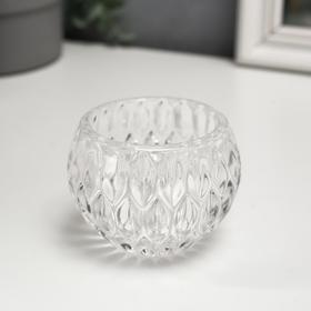 "Подсвечник стекло ""Ромбы"" 7х7х6,5 см"