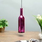 "Подсвечник стекло ""Бутылка малиновая"" 28,5х7,5х7,5 см"