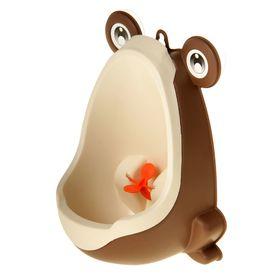 Писсуар детский «Лягушка», цвет коричневый