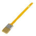 """Кисть плоская """"АКОР"""" Эксперт, 50х12 мм, ручка удлиненная пластик, натуральная щетина"""