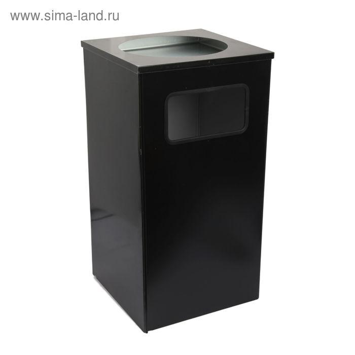 """Урна """"Квадро-13"""" 80 л (черный)"""