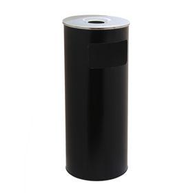 Корзина для бумаг с пепельницей 50 л, цвет черный
