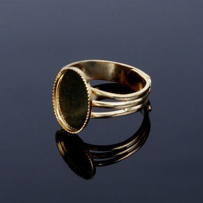 Основа для кольца, регулируемого размера, с платформой 14*10 мм, позолоченная