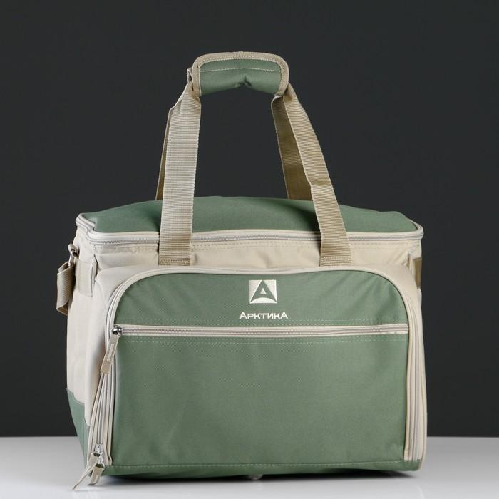"""Рюкзак-холодильник """"Арктика"""", 22 л, с набором посуды для пикника на 6 человек, цвет зелёный   247842"""