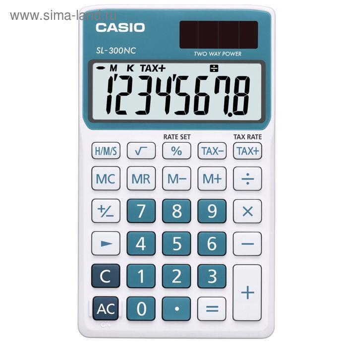Калькулятор настольный Casio SL-300NC-BU 8-разрядный синий