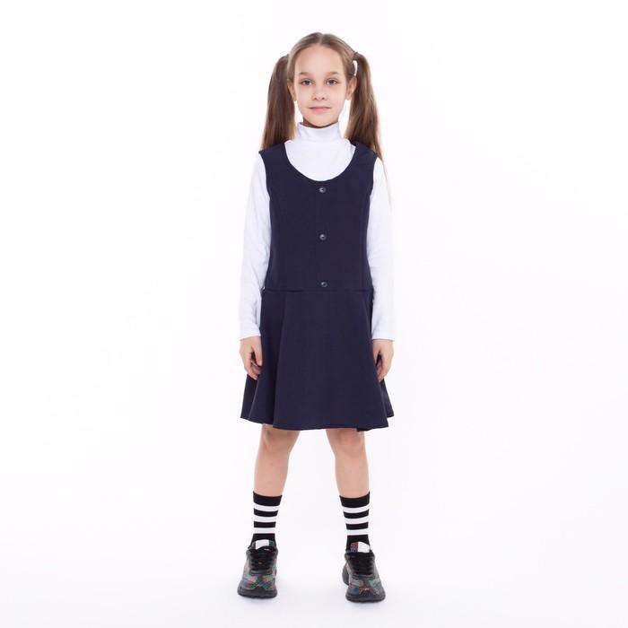 Сарафан для девочки, цвет синий, рост 134