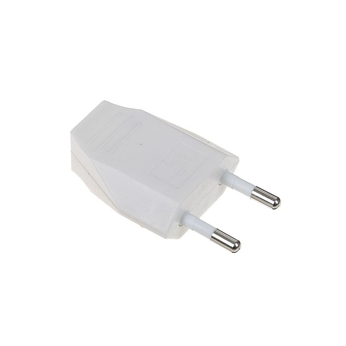 Вилка плоская Smartbuy, 2.5 А, 250 В, белая, SBE-2.5-P06-w