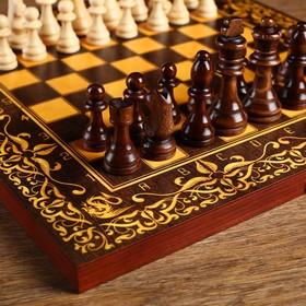 "Шахматы ""Дракон"" (доска дерево 40х40 см, фигуры дерево, король h=9.5 см)"