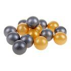 Шарики для сухого бассейна с рисунком, диаметр шара 7,5 см, набор 30 штук, цвет металлик