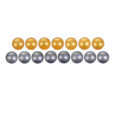Шарики для сухого бассейна с рисунком, d=7,5 см, 30 штук, цвет металлик