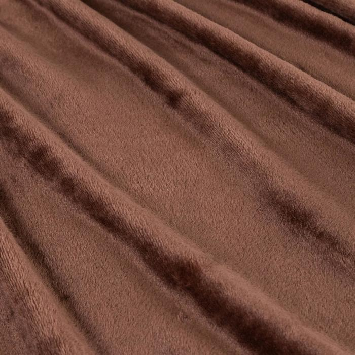 "Плед ""Этель корал"" 2 сп. Дуэт 180х200 см, шоколад, 100% п/э, корал-флис 210 гр/м²"