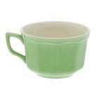"Чашка 220 мл ""Глория"" бело-зелёная"