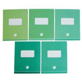 Тетрадь 24 листа в линейку «Оттенки зеленого», бумажная обложка, МИКС