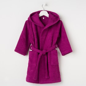Халат махровый детский, размер 28, цвет розовый, 340 г/м2 хл.100% с AIRO