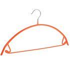 Вешалка-плечики с перекладиной антискользящая, дугообразная, цвет оранжевый