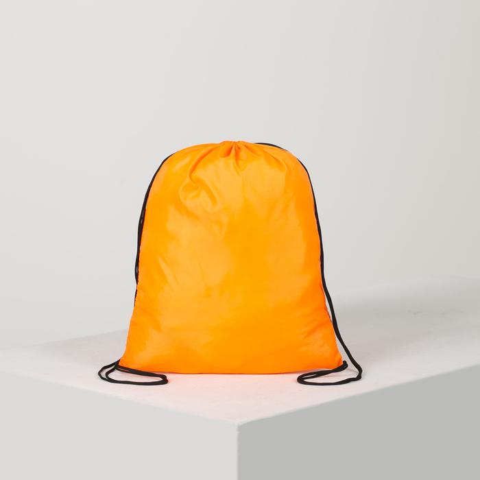 Мешок для обуви, отдел на шнурке, цвет оранжевый - фото 686350979