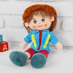 Мягкая кукла «Паренёк», в шляпке, цвета МИКС