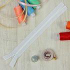 Молния для одежды «Спираль», неразъёмная, потайная, №3, 18 см, цвет белый