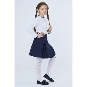 Блузка для девочки, цвет белый, рост 128