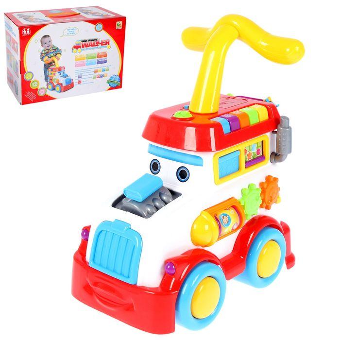 Каталка-ходунок «Машинка» с развивающими элементами и звуковыми эффектами - фото 107062109